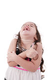 Beautiful girl laughing with thumbs up Stock Images