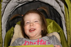 Beautiful girl laughs Stock Images