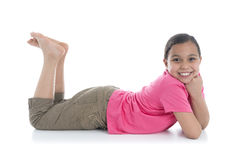 Beautiful Girl Laying Down stock images