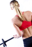 Beautiful Girl lifting weights Stock Photo