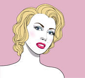 Beautiful girl, like Marilyn Monroe Royalty Free Stock Photos