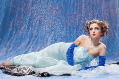Beautiful girl like Snow White Stock Photography