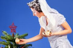 Beautiful girl like Snow White Stock Images