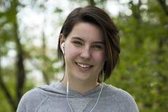 Beautiful girl listening music Royalty Free Stock Image