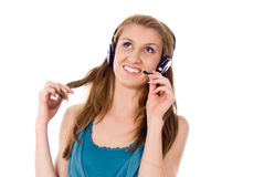 Beautiful girl listening to the music Royalty Free Stock Image