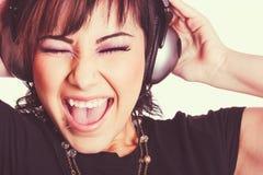 Girl Listening to Music Stock Photos