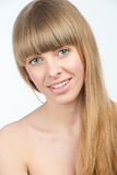 Beautiful girl with long blond hair Royalty Free Stock Images