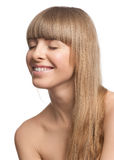 Beautiful girl with long blond hair Stock Photography