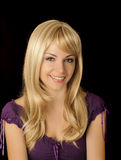 Beautiful girl with long blond hair Royalty Free Stock Photography
