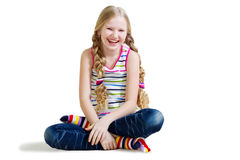 Beautiful girl with long blond hair Royalty Free Stock Image