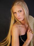 beautiful girl with long blonde hair Royalty Free Stock Photos