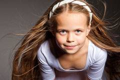 Beautiful girl with long blonde hair Royalty Free Stock Images