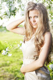 Beautiful girl with long hair Royalty Free Stock Photos