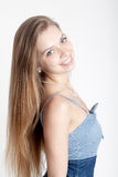 Beautiful girl with long hair Stock Images
