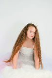The beautiful girl with long hair Stock Photography