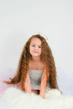 The beautiful girl with long hair. The image of  beautiful girl with long hair Royalty Free Stock Photography