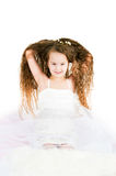 The beautiful girl with long hair. The image of  beautiful girl with long hair Royalty Free Stock Images