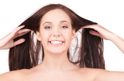Beautiful girl with long hair Royalty Free Stock Images
