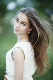 Beautiful girl with long hair Royalty Free Stock Photography
