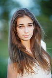 Beautiful girl with long hair Stock Photo