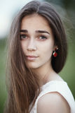 Beautiful girl with long hair Royalty Free Stock Photos