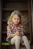 Beautiful girl with long hair posing Royalty Free Stock Photos