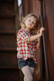 Beautiful girl with long hair posing Royalty Free Stock Images