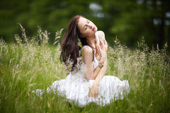 Beautiful girl with long hair Stock Photography