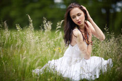 Beautiful girl with long hair Royalty Free Stock Image
