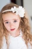 Beautiful girl watching on you Royalty Free Stock Image