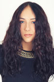 Beautiful girl with long hairs Royalty Free Stock Photos