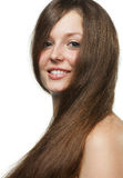 The beautiful girl with long healthy hair Royalty Free Stock Photos