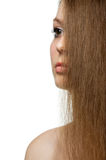 The beautiful girl with long healthy hair Royalty Free Stock Photo