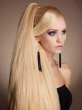 Beautiful girl with Long healthy hair Royalty Free Stock Photography