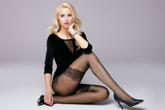 Beautiful girl with long legs. Stock Image