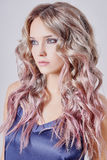 Beautiful girl with long wavy hair Royalty Free Stock Images
