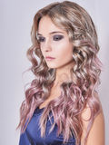 Beautiful girl with long wavy hair Royalty Free Stock Photography