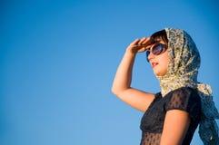 Beautiful girl looking ahead Royalty Free Stock Image
