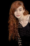 Beautiful girl looking at the camera Stock Image