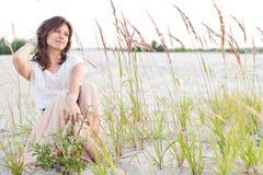 Beautiful girl looks wistfully Royalty Free Stock Photos
