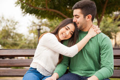 Beautiful girl in love with her boyfriend Stock Image