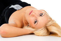 Beautiful girl lying Stock Images