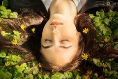 Beautiful girl lying Stock Image