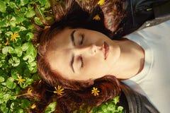 Beautiful girl lying Royalty Free Stock Image