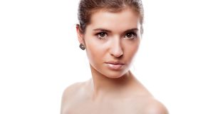 A beautiful girl with make-up Stock Images