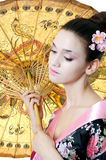 The beautiful girl with a make-up of the Japanese Royalty Free Stock Image