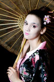 The beautiful girl with a make-up of the Japanese Royalty Free Stock Photography