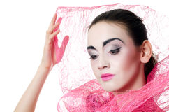 The beautiful girl with a make-up of the Japanese Stock Photography