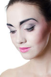 The beautiful girl with a make-up of the Japanese Royalty Free Stock Photos