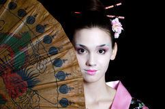 The beautiful girl with a make-up of the Japanese. The beautiful girl with make-up of Japanese Royalty Free Stock Photography